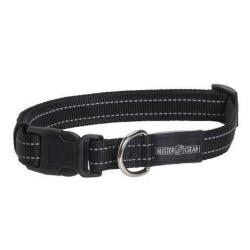 BUSTER reflekterande ställbart, 15x280-400 mm svart Hundhalsband Svart one size
