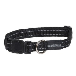 BUSTER reflekterande ställbart, 20x400-550 mm Svart Hundhalsband Svart one size
