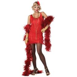 Flapper Röd Charlston 20-tal Maskeradkläder Röd S