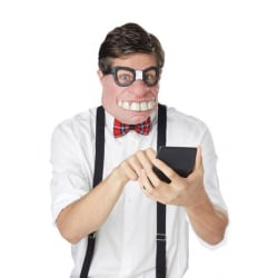 Geeked Ansiktsmask i gummi Halloween  Brun one size
