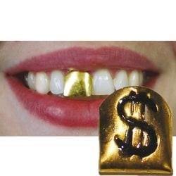 Guldtand Tanddesign med dollartecken Guld one size