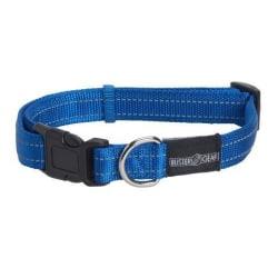 Hundhalsband  BUSTER reflekterande ställbart,Blå 25x450-650 mm  Blå one size