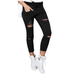 Jeans Leggings Stretch Jeggings Svart Black M