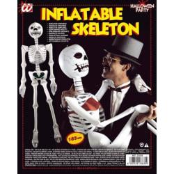 Uppblåsbar skelett White one size