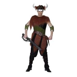 Vikingman Maskeraddräkt Brun one size