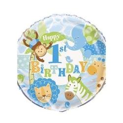 1-årskalas Safari Ljusblå Folieballong