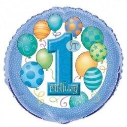 1st birthday folieballong  blå