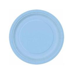 Papperstallrikar Ljusblå(16-PACK)