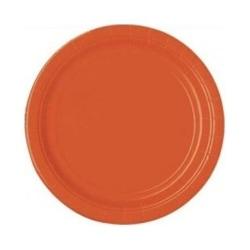 Papperstallrikar Orange(16-PACK)