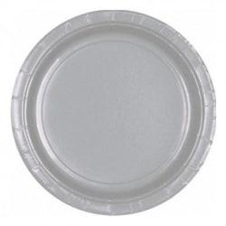 Papperstallrikar Silver(16-PACK)