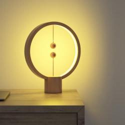 Heng Balance Lamp Rund Ljust trä LED, USB, ALLOCACOC