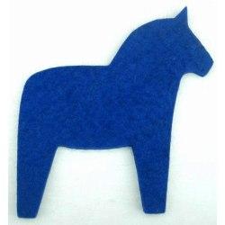 Grytunderlägg häst i ull, blått