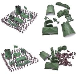 100 St / Set 3 cm Soldat City Gate Tower Sandbag Militär modell