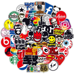100st Mode Graffiti Stickers Vattentät Laptop Bagage Skat One Size