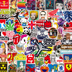 100st Graffiti Skateboard Klistermärken Bil Laptop Bagagetelefon Bo One Size