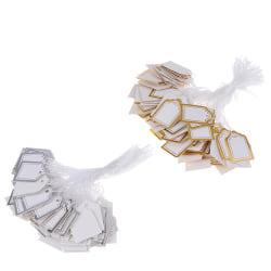 200st guld gräns etikett slips sträng biljett smycken merchandise Gold