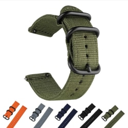 20mm nylon tyg canvas armbandsur band militär sport Casua 1