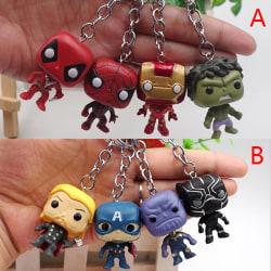 4st Söt The Avengers Nyckelring Batman SpiderMan DeadPool Keyri A