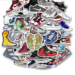 50st Jordan Sneaker Tide Shoes Sticker Vattentät för bärbar dator