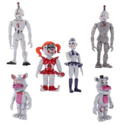 6 STK Fem nätter på Freddy's FNAF Bunnie Game Action Figur D One Size