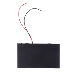 DIY lådhållare fodral med lock på / av strömbrytare för 8x 1,5VA