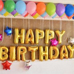 "Heta 13st ""HAPPY BIRTHDAY"" Letters Folie Balloons For Birthday P"
