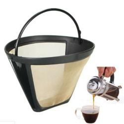 Återanvändbar 4-konform Permanent kaffefilter Mesh Basket Fläck onesize