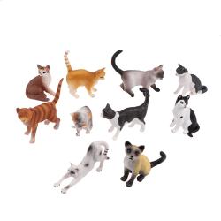 Simulering katt leksaker barn figur djur heminredning mikro landskap 9#