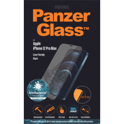 PanzerGlass Apple iPhone 12 Pro Max Case Friendly AB, Black