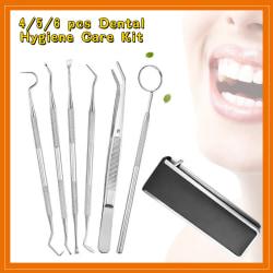 4/5/6 st Professionellt kit för tandvårdshygien 4pcs