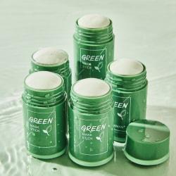 Grön te-stickmask tar bort hudormar Oljekontroll Anti-Ac Green