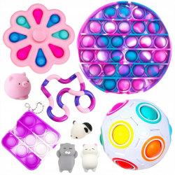 9st dekompressionsleksak Fidget Toys för vuxna och barn