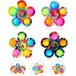 4 -pack Pop It Fidget Toys Spinner för barn