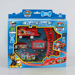 Elektriska tågspår Leksaker Anime Figur Valpleksak för barn Multicolor