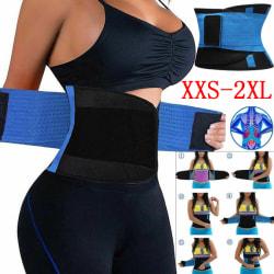 Hot bantning bälte Power bantning bälte Body Shaper midja tränare Black M