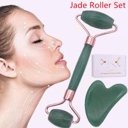 Jade Roller & Gua Sha Facial Beauty Skin Care Tools With Box