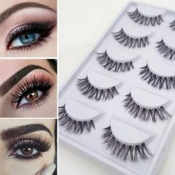 Naturliga tjocka falska ögonfransar Makeupverktyg White