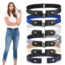 Unisex spänningsfritt midjebälte för jeansbyxor Elastiskt midjebälte Gray