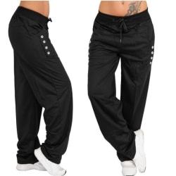 Dam Loose Casual Harem Yoga Joggerpant Byxa Black XL