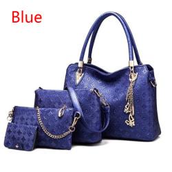 Kvinnors 4 Bag / Set Ladies Handbag Top-Handle Me Blue