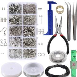 1 Set Stora smyckenstillverkningssats Tång Silverpärlor Wire Start One Size