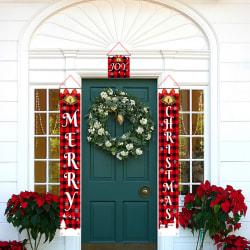 1 Set Välkommen God Jul Hängande Dörr Banner Ornament Chr C