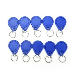 10st / parti 13,56MHz RFID IC-nyckelmärken Keyfobs Token Tag Keychain Blue