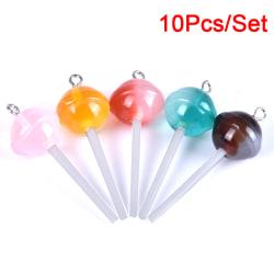 10st / Set Harts Transparent Lollipop Charms Hängsmycken DIY Green