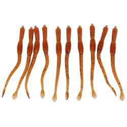 10st simulering mjuk daggmask fiske betmask lockar krokar b One Size