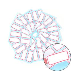 12ark självhäftande klibbig vit etikett skrivbar namn klistermärke
