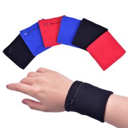1PC Sport Armband Löpväska Armband Svettband Handlåda Black