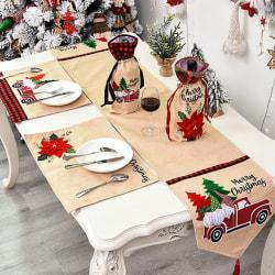 1x Christmas Runner Table Placemats Bordsdukar Tassel Ren B