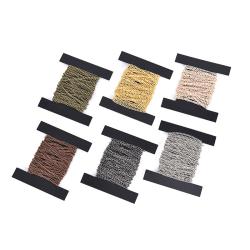 2,5 mm halsbandskedjor 5M / Pack Flat Chain Fit Hängsmycken Ma Rose Gold