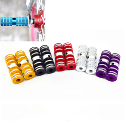 "2st Cykling BMX Cykel Cylinder Aluminiumlegering 3/8 ""Axel Silver"